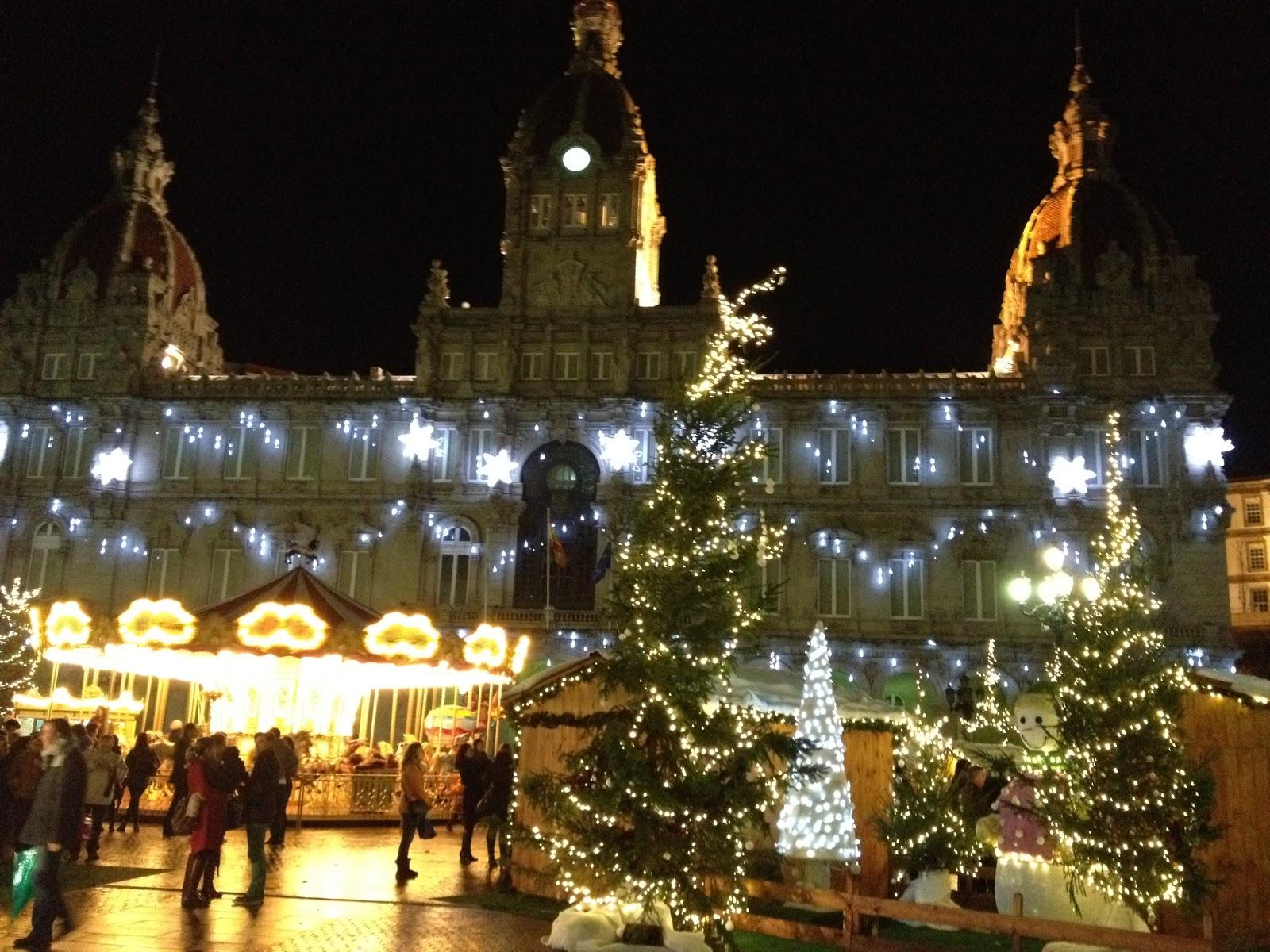 Christmas 2012 lights in galicia spain luces de navidad - Luces de navidad ...